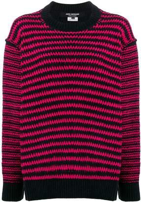 Junya Watanabe two-tone stitch jumper