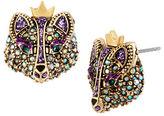 Betsey Johnson Crystallized Fox Stud Earrings