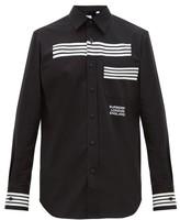 Burberry Coleherne Striped Cotton Shirt - Mens - Black