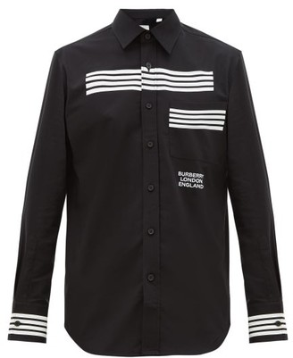 Burberry Coleherne Striped Cotton Shirt - Black