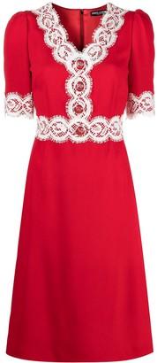 Dolce & Gabbana Lace-Detailing Cady Dress