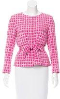 Chanel Belted Tweed Jacket