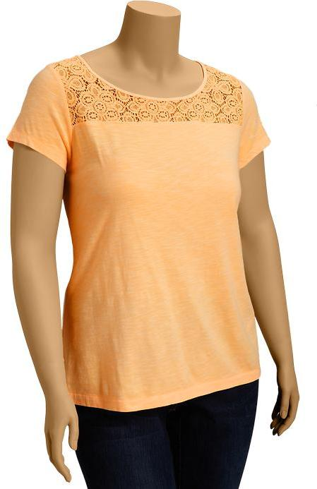 Old Navy Women's Plus Lace-Yoke Tees