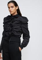 Yohji Yamamoto Moss Green Horizontal Pleats Jacket