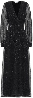 Oseree Exclusive to Mytheresa Sequined satin maxi dress