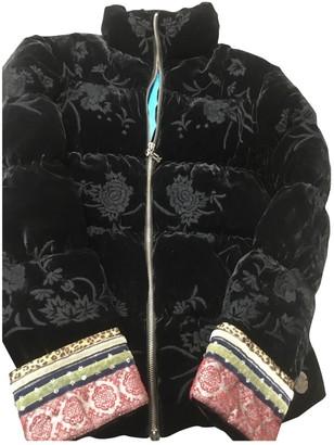 Galliano Black Velvet Leather Jacket for Women