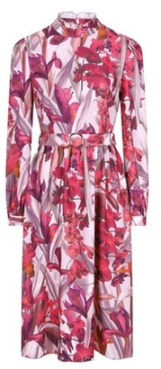 Dorothy Perkins Womens Little Mistress Multi Colour Floral Print High Neck Midi Dress, Multi Colour