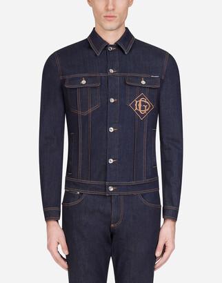 Dolce & Gabbana Stretch Denim Jacket With Patch