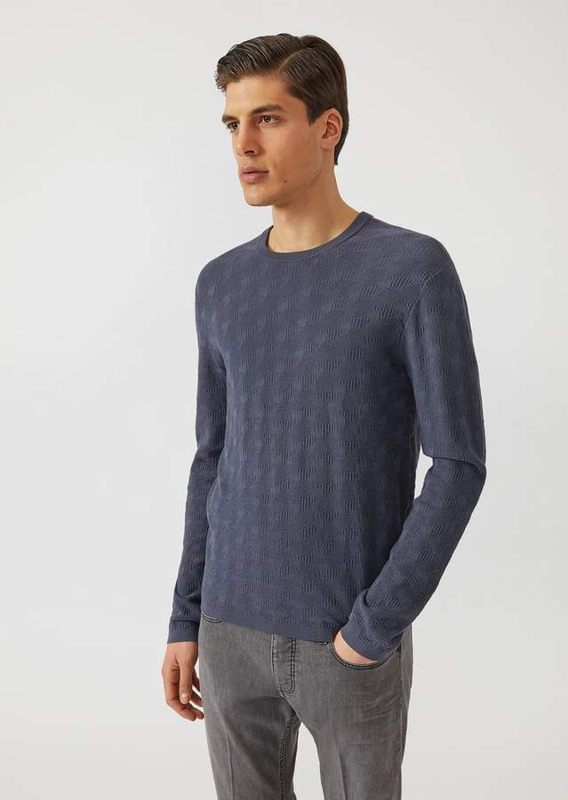 Emporio Armani Jumper With All Over Jacquard Pattern