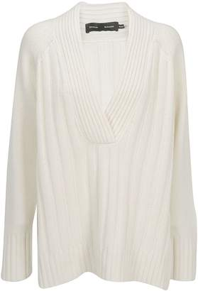 Proenza Schouler V-Neck Ribbed Sweater