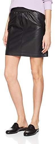 Adina Second Female Women's Leather Skirt (Black 8001), (Size: Medium)