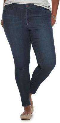UNIONBAY Juniors' Plus Size Ultra Stretch Mid-Rise Skinny Jeans