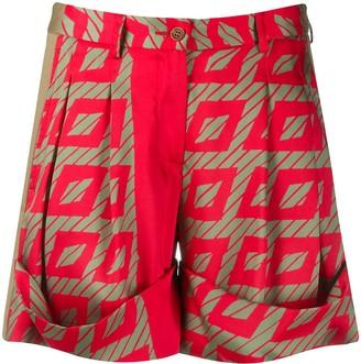 Jejia Geometric Abstract-Print Shorts