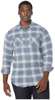 Timberland Woodfort Flex Flannel Work Shirt - Tall (Vintage Indigo Plaid) Men's Clothing