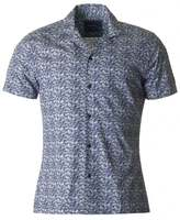 Remus Cuban Collar Short Sleeved Print Shirt