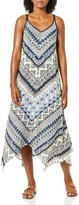 Thumbnail for your product : Angie Women's Blue Printed Maxi Dress Small