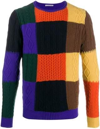 Daniele Alessandrini colour block jumper