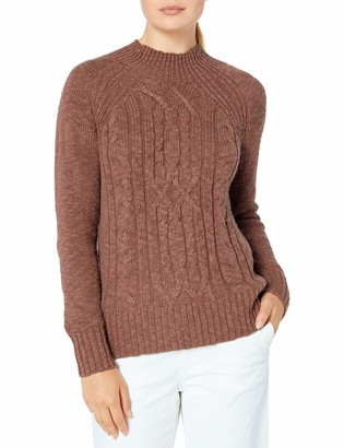 Tribal Women's Long Sleeve Cable Sweater