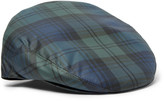 Lock & Co Hatters - Water-repellent Black Watch Checked Twill Flat Cap