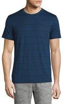 Theory Gaskell Striped Crewneck T-Shirt, Cy Blue