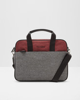 Ted Baker Two-tone Document Bag Red