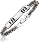 Forzieri Di Fulco - Stainless Steel Bracelet with Plaque