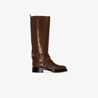 Chloé Brown knee-high leather riding boots