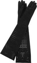 Perforated long gloves