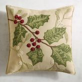 Pier 1 Imports Traditional Holly Leaves Pillow