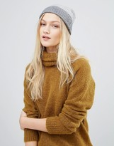 Whistles Gray Knitted Ribbed Beanie