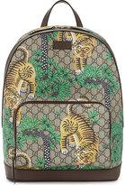 Gucci Tiger Print Supreme Canvas Backpack