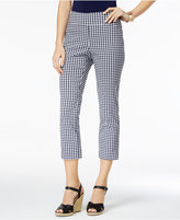 Charter Club Petite Cambridge Gingham Capri Pants, Only at Macy's