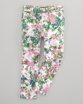 7 For All Mankind The Skinny Kauai Floral-Print Jeans, Sizes 2T-3T