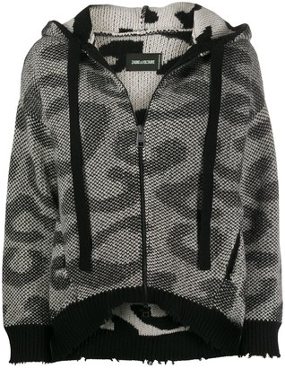 Zadig & Voltaire Lennox leopard-knit cardigan