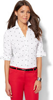 New York & Co. 7th Avenue - Madison Stretch Shirt - Embroidered Dot
