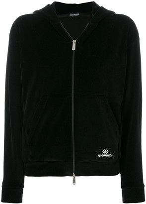 DSQUARED2 Underwear hooded zip jacket