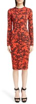 Givenchy Women's Rose Print Jersey Dress