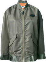 MM6 MAISON MARGIELA frill detail bomber jacket - women - Polyamide/Polyester/Viscose - 38