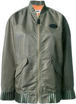 MM6 MAISON MARGIELA frill detail bomber jacket - women - Polyamide/Polyester/Viscose - 40