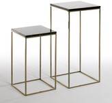 Am.pm. Set of 2 Mahaut Marble Top Side Tables