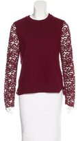 Tory Burch Lace-Trimmed Wool Sweater