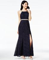 Trixxi Juniors' Embellished Soutache Gown