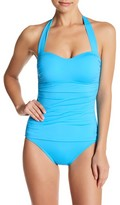 Tommy Bahama Pearl Shirred Halter One-Piece Swimsuit