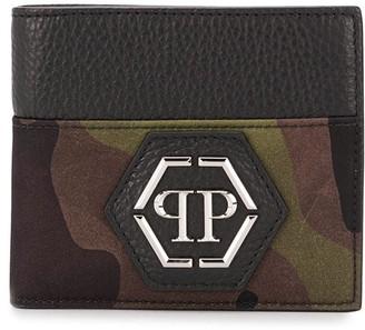 Philipp Plein Camouflage Print Foldover Wallet