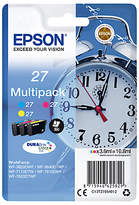 Epson Alarm Clock T2705 Colour Inkjet Printer Cartridge Multipack, Pack of 3
