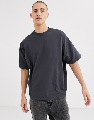 Asos DESIGN oversized t-shirt with crew neck in washed black