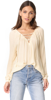 BB Dakota Jack by Boothe Lace Up Top