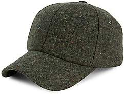 Paul Smith Men's Multi-Stripe Trim Wool Baseball Cap