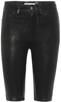 Frame Leather shorts
