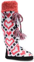 Muk Luks Women's Angie Heart Boot Slipper